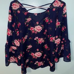 charming charlie's floral top